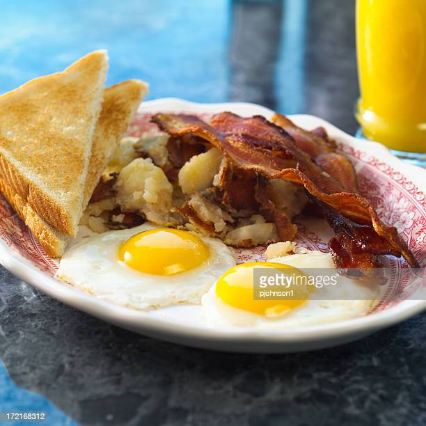 Breakfast, egg and bacon