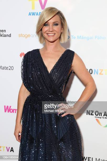 Breakfast host Hayley Holt arrive at the 2018 Huawei Mate20 New Zealand Television Awards at the Civic Theatre in Auckland New Zealand on November 22...