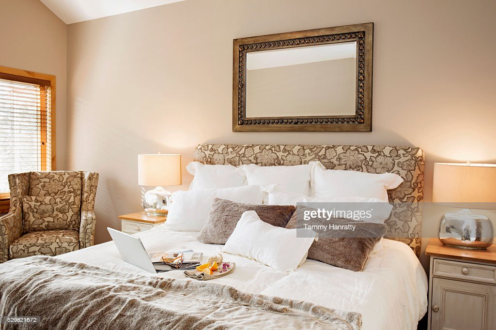 Breakfast in bed : Stock Photo