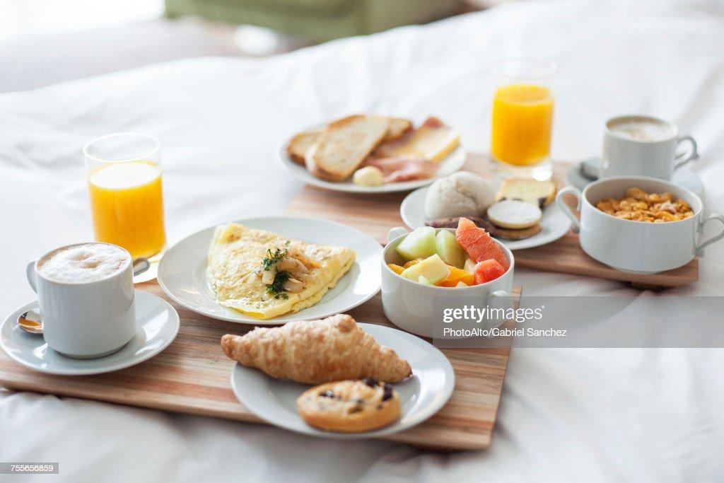 Breakfast in bed : Stock Photo