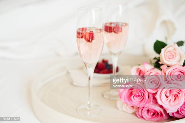 breakfast in bed - rose stock pictures, royalty-free photos & images