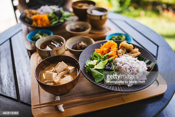 breakfast in okinawa - okinawa prefecture stock pictures, royalty-free photos & images