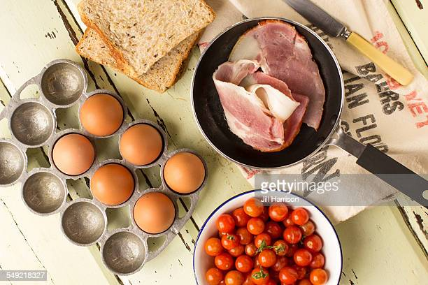 breakfast ingredients - jill harrison stock pictures, royalty-free photos & images