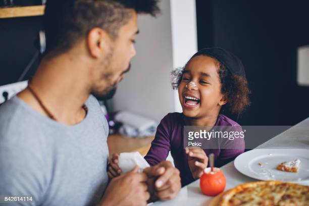 "breakfast is more than food, it""u2019s a time to connect - black people laughing stock photos and pictures"