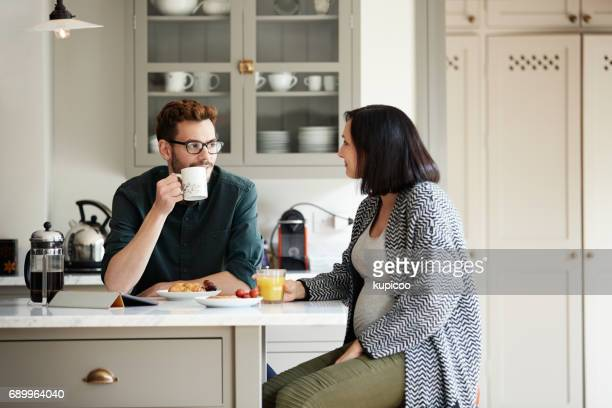 breakfast is the most important meal of the day - pregnant coffee stock pictures, royalty-free photos & images