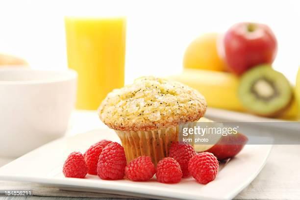 Breakfast -lemon  poppy seed muffin