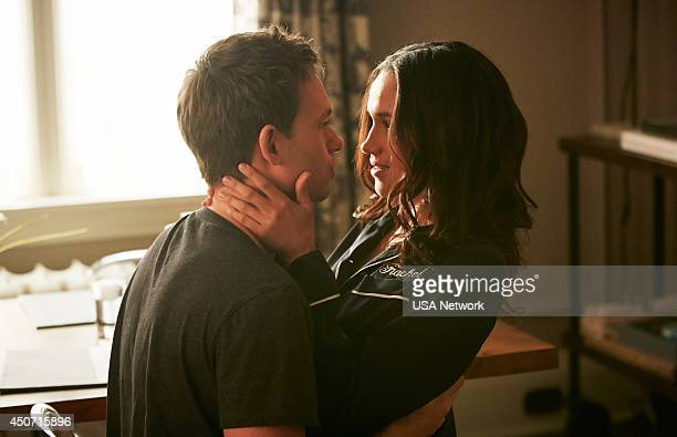 SUITS 'Breakfast Lunch and Dinner' Episode 402 Pictured Patrick J Adams as Michael Ross Meghan Markle as Rachel Zane