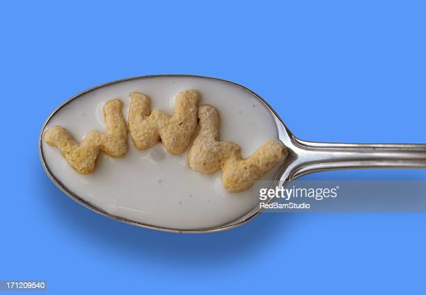 breakfast of geeks - tablespoon vs teaspoon stock photos and pictures