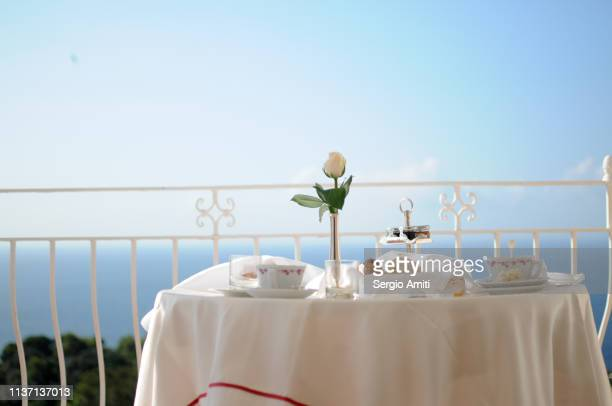 Breakfast on a balcony in Capri