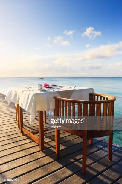 Breakfast on Beautiful Morning at Tropical Polynesian Luxury Tourist Resort