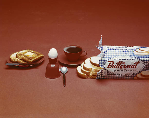 Breakfast On Brown Background Wall Art