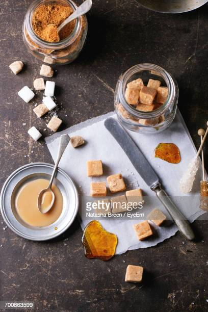 breakfast on table - fudge stock pictures, royalty-free photos & images