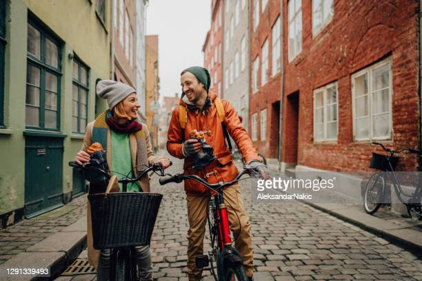breakfast on the go - denmark stock pictures, royalty-free photos & images