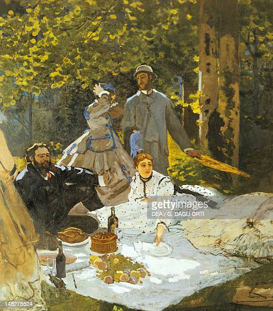 Breakfast on the Grass by Claude Monet The central section of a composition cut by the artist Paris Musée D'Orsay