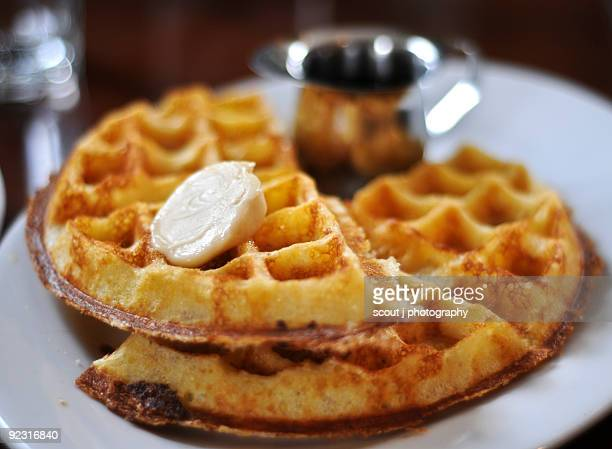 breakfast - waffle stock photos and pictures