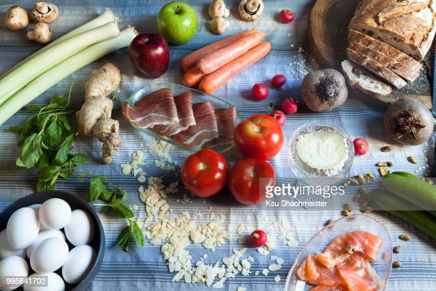 breakfast preparation - ksu stock photos and pictures
