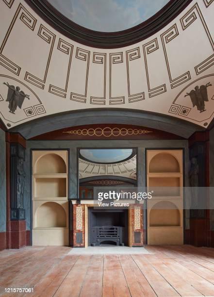 Breakfast room with fireplace Pitzhanger Manor London United Kingdom Architect Julian Harrap Architects 2019