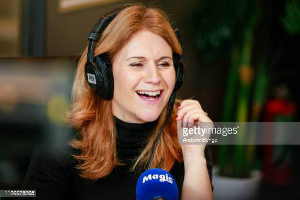 Breakfast show presenter Harriet Scott during a special live broadcast of Magic Radio on February 01 2019 in Leeds England
