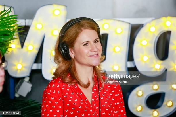 Breakfast show presenter Harriet Scott during a special live broadcast of Magic Radio on February 02 2019 in Manchester England