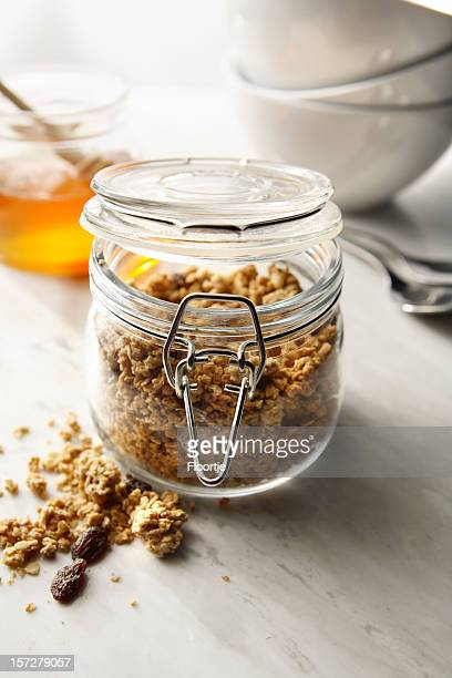Breakfast Stills: Cereals in Preserving jar