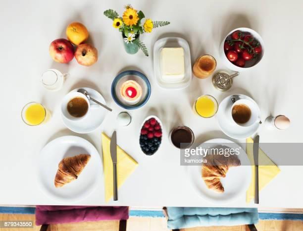 Ontbijttafel – Overhead uitzicht