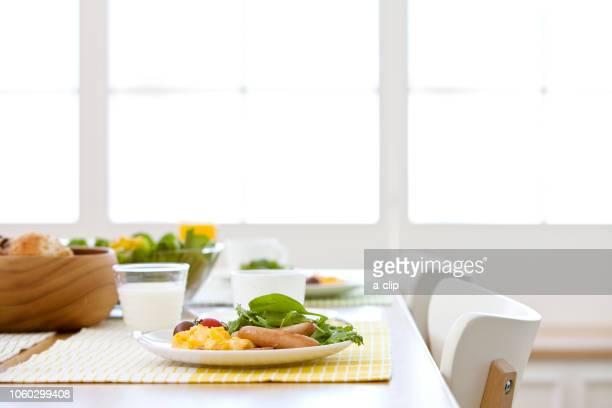 朝食の並ぶ食卓 - breakfast ストックフォトと画像