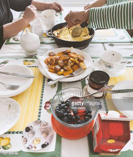 breakfast table - rob castro stock pictures, royalty-free photos & images