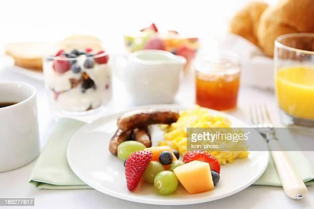 朝食用テーブル