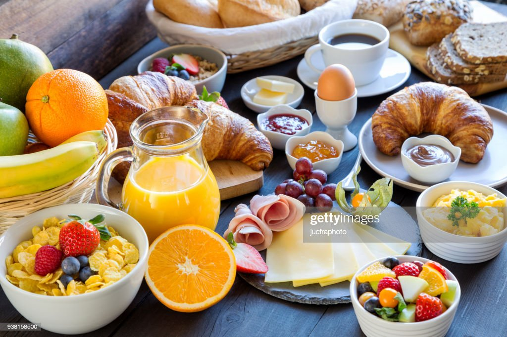 breakfast table : Stock Photo
