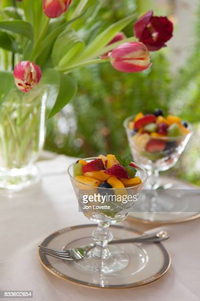 Breakfast table with Fruit