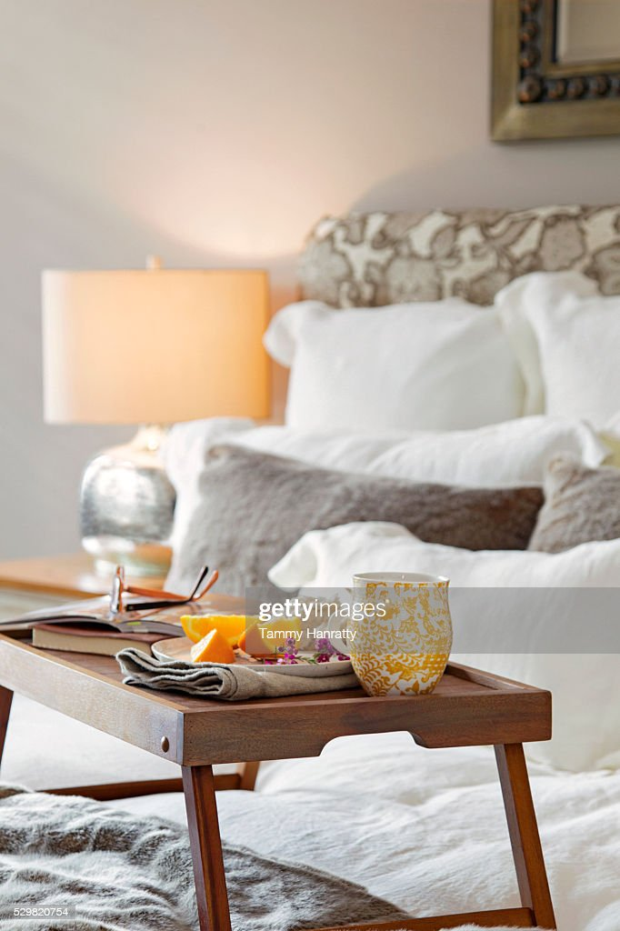 Breakfast to bed : Stockfoto