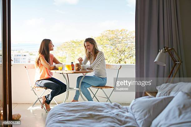 breakfast with a view - balcony stock pictures, royalty-free photos & images