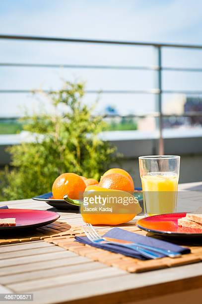Breakfest on balcony