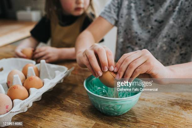 breaking an egg - animal egg stock pictures, royalty-free photos & images