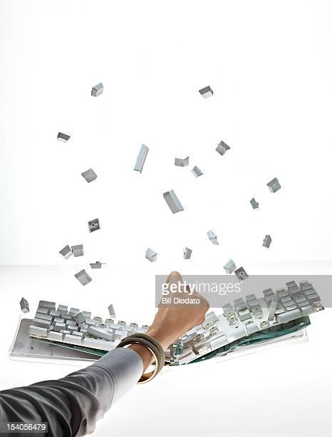Breaking Keyboard with keys flying