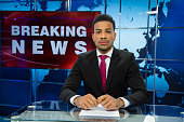 Breaking news male anchor