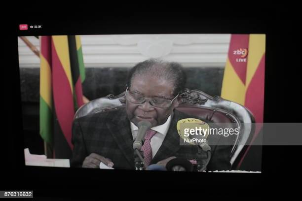 Zimbabwean President Mugabe in a Speech to Zimbabwe people on TV says he will remain president and refuse to relinquish the presidency