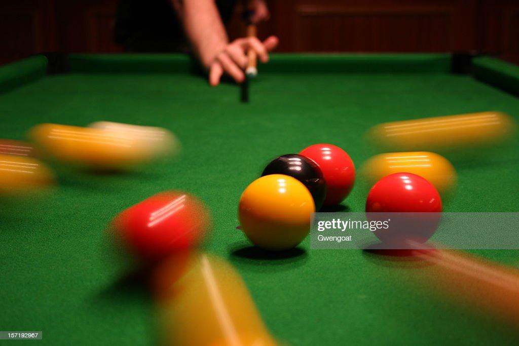 Breaking pool balls : Stock Photo