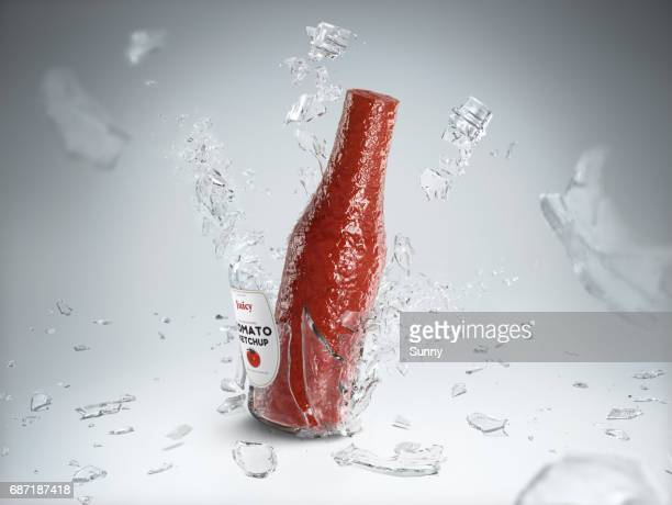 breaking porcelain - exploding glass stock photos and pictures