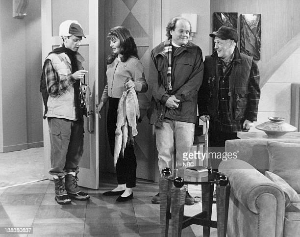 FRASIER Breaking the Ice Episode 20 Pictured David Hyde Pierce as Doctor Niles Crane Jane Leeves as Daphne Moon Kelsey Grammer as Doctor Frasier...