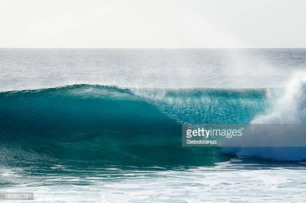 Brechenden Welle am Riff Sal, Kap Verde (Ponta Preta).
