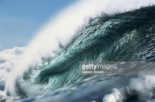 Breaking wave, North Shore, Oahu, Hawaii, USA