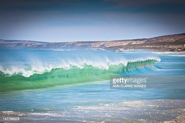 breaking wave - south australia stock photos and pictures