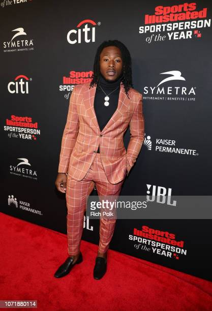 Breakout of the Year award recipient Alvin Kamara attends Sports Illustrated 2018 Sportsperson of the Year Awards Show on Tuesday December 11 2018 at...