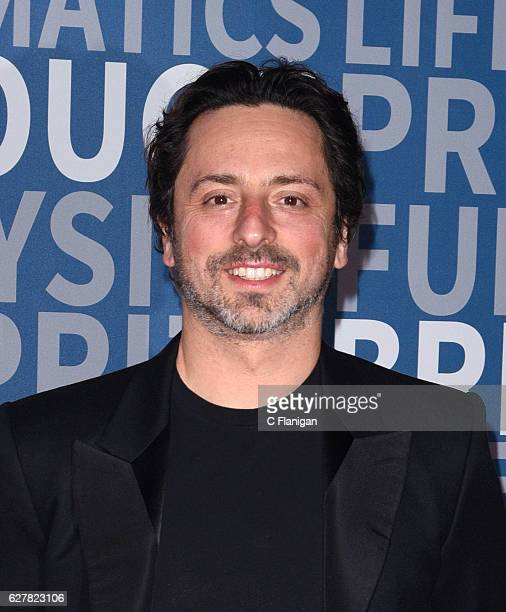 Breakthrough Prize Co-founder and Co-founder of Google, Sergey Brin attends the 2017 Breakthrough Prize at NASA Ames Research Center on December 4,...