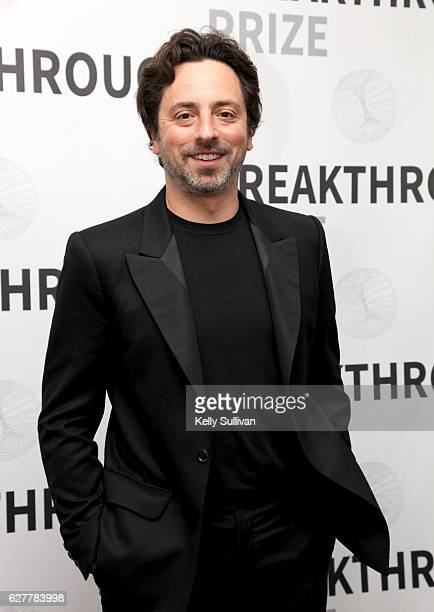 Breakthrough Prize CoFounder and President of Alphabet Inc Sergey Brin attends the 2017 Breakthrough Prize at NASA Ames Research Center on December 4...