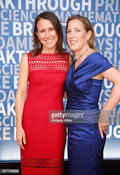 Breakthrough Prize Cofounder Anne Wojcicki and CEO of You Tube Susan Wojcicki attend the 2017 Breakthrough Prize at NASA Ames Research Center on...