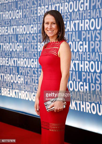 Breakthrough Prize Cofounder Anne Wojcicki attends the 2017 Breakthrough Prize at NASA Ames Research Center on December 4 2016 in Mountain View...