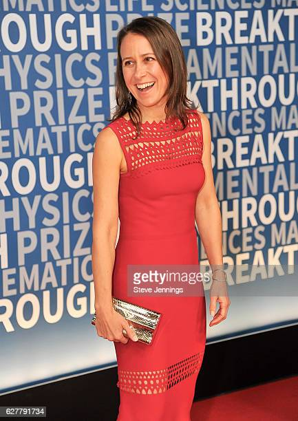 Breakthrough Prize CoFounder Anne Wojcicki attends the Red Carpet at the 5th Annual Breakthrough Prize Ceremony at NASA Ames Research Center on...