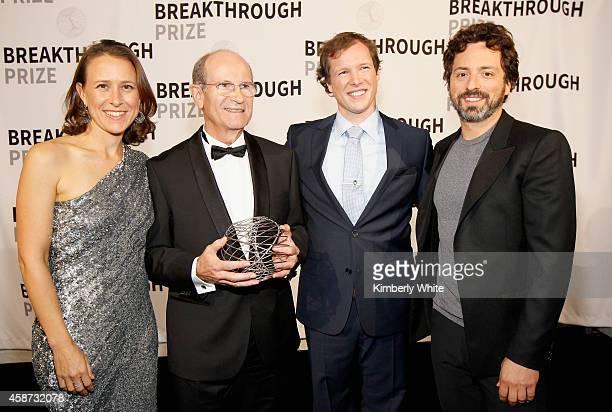 Breakthrough Prize CoFounder Anne Wojciki Academy of Sciences in France Member and Neurosurgeon AlimLouis Benabid Patient Nicolas Berben and...